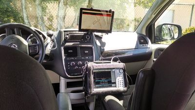 Mobile interference hunter car