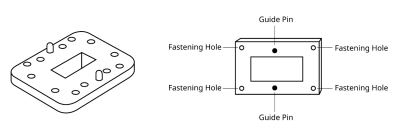 Waveguide component with matching alignment design diagram.