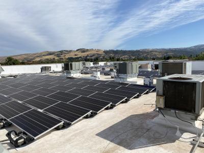 Anritsu Solar Panels on Morgan Hill Roof